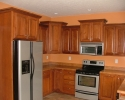 Hickory cabinets Cinnamon finish